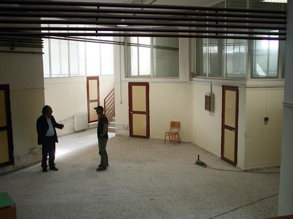 Avant : le même hall