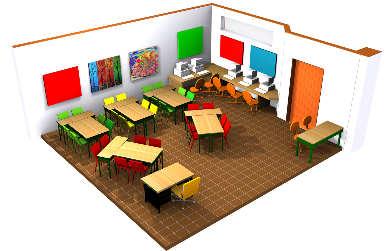 Salle de classe de type B