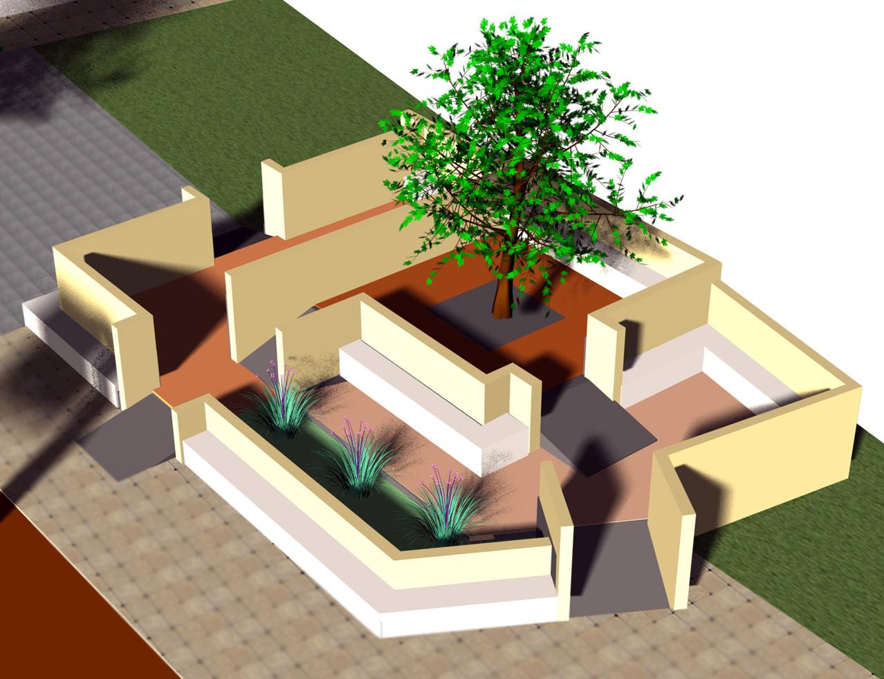 Modèle de salle de classe en plein air. École primaire