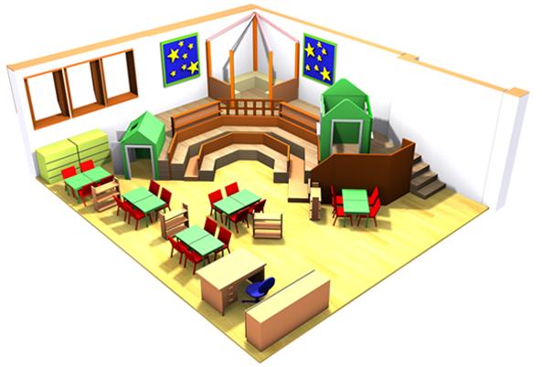 Transformer l'espace scolaire à un espace de l'enfant.