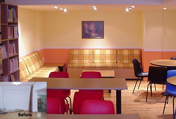 La maison constitue un modèle esthétique pour l'espace scolaire.