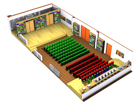 ECSC:  alternative design to function as a hall for language and civilization activities.