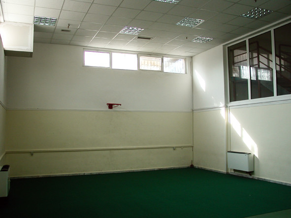 Τhe same hall, before: gym hall.