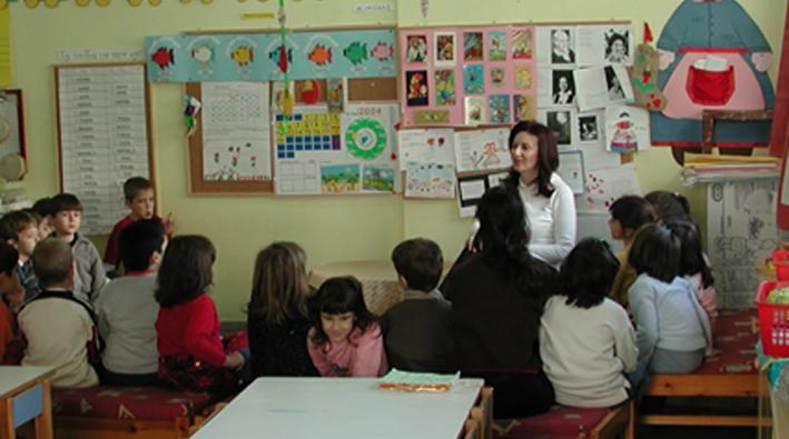 École maternelle à Thessalonique. Avant...