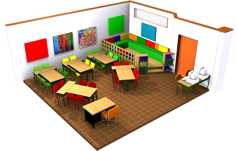 Salle de classe, type A