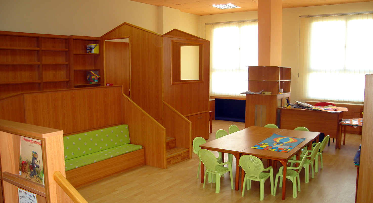 Child Center, Aristote University of Thessaloniki. Classroom 1, after redesign.