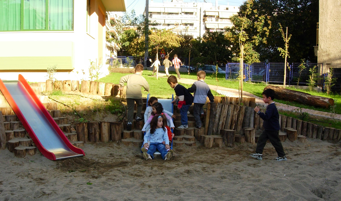 """Manavi"" Kindergarten: Area for education activities and play."