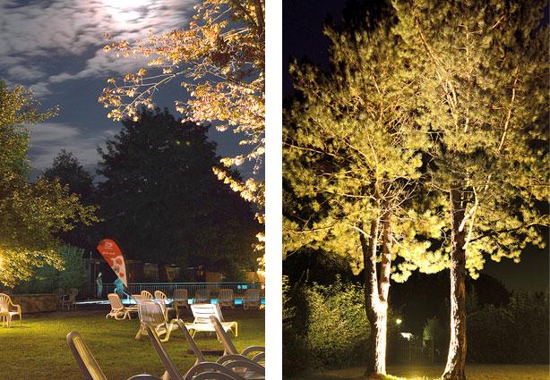 Abendstimmung im KAISER CAMPING Outdoor Resort, Bad Feilnbach