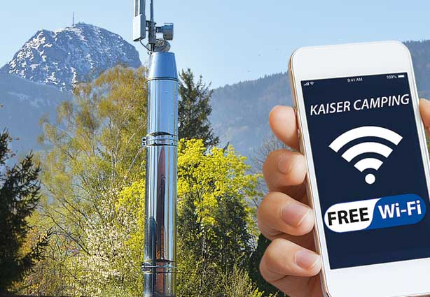 WIFI IM KAISER CAMPING Outdoor Resort, Bad Feilnbach