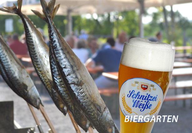 Biergarten im KAISER CAMPING Outdoor Resort