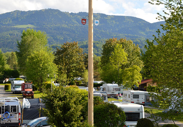 Blick auf den Campingplatz Kaiser Camping