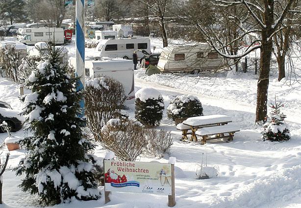 Winter im KAISER CAMPING Outdoor Resort
