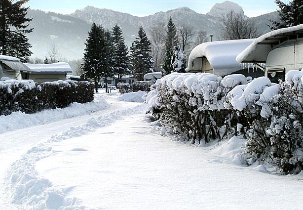 Winter an den bayerischen Alpen, Kaiser Camping