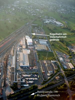 Anfahrtsplan zur Kegelbahn des ESV Bregenz/Wolfurt