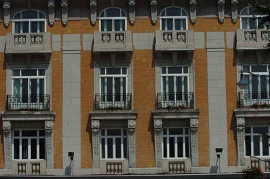 Facade with small balcony