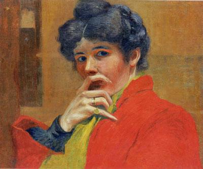 Marguerite Burnat-Provins - self-portrait