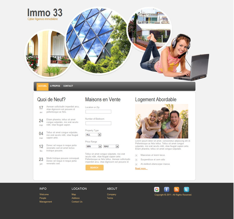 SITE INTERNET POUR AGENCE IMMOBILIERE