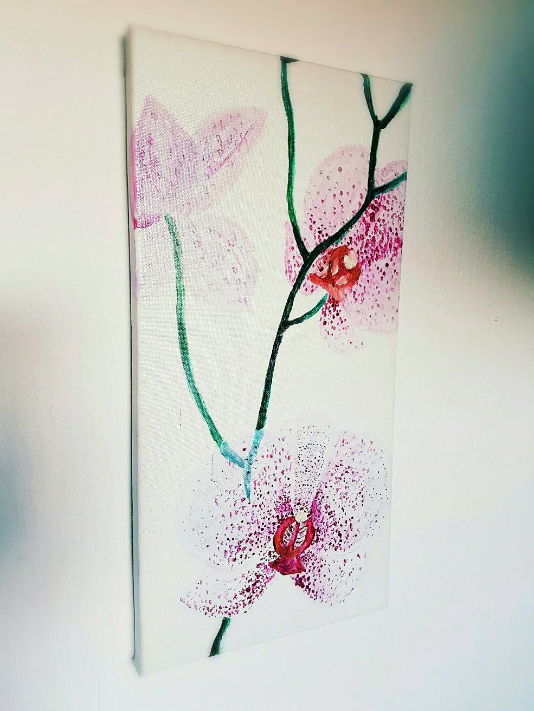 """Orchideen"" - Acryl auf Leinwand 2008"