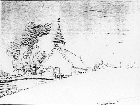 Amiens Musée de Picardie, Aimée et/ou Louis Duthoit(1803-1869)(1807-1874), « Poulainville,  ancienne Église (fragment) » (cliché x)