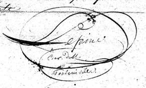 Signature de François Auguste Alphonse LEPINE