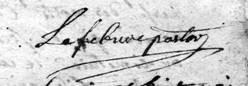 Signature de Jean-Baptiste LEFEBURE
