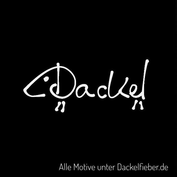 Dackel-Schriftzug