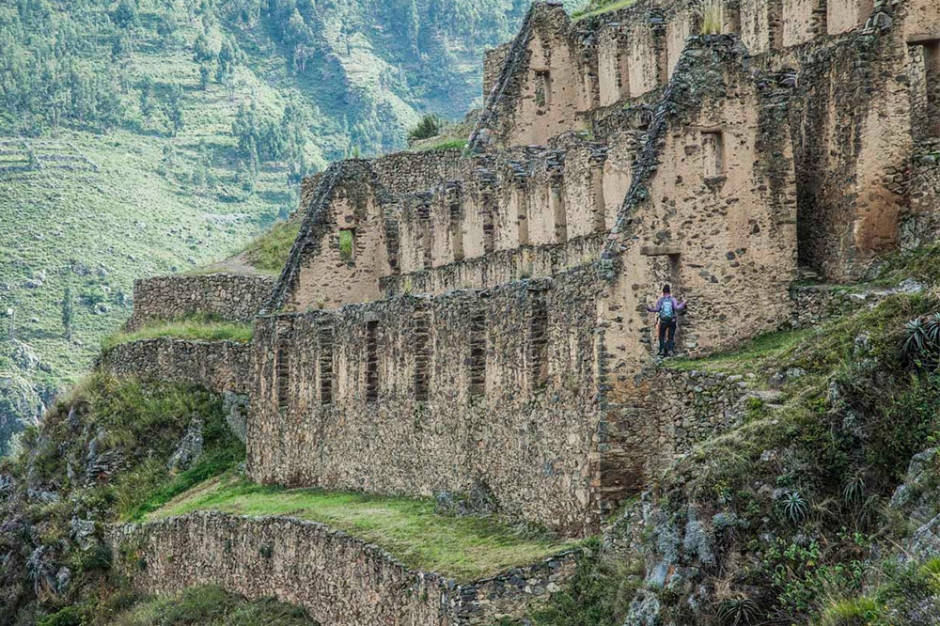 Ollantaytambo auf dem Lares TRek nach Machu Picchu in Peru