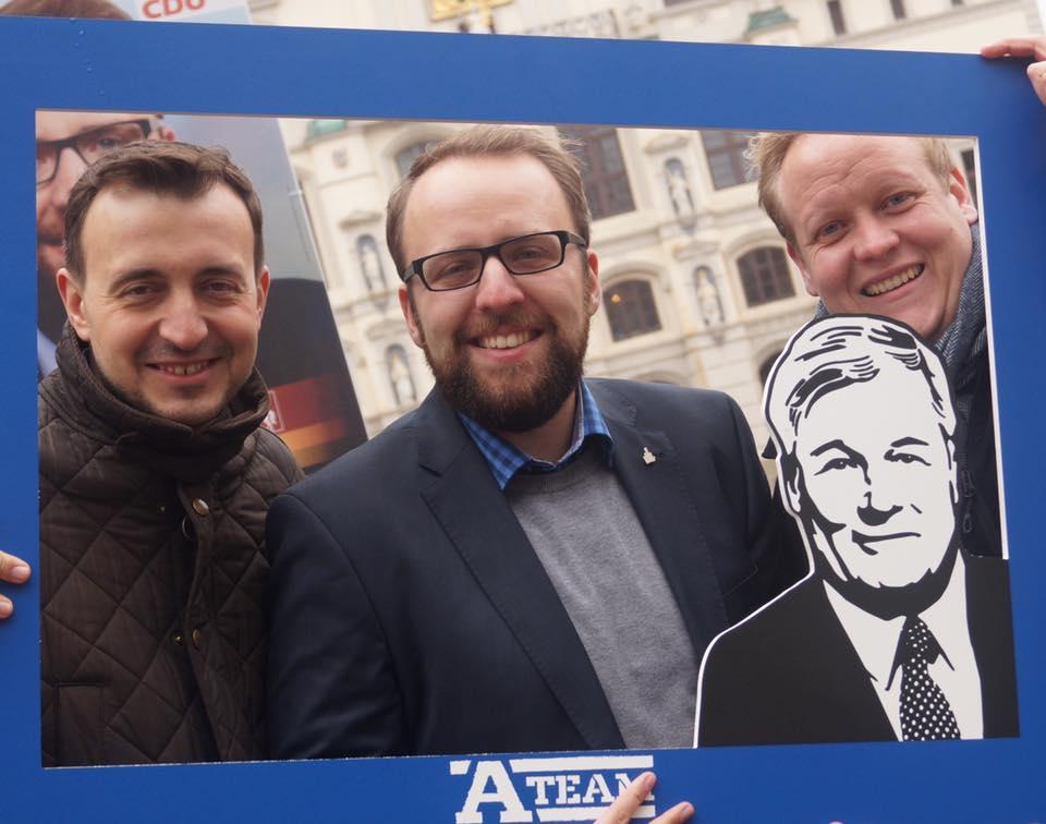 Landtagswahlkampf mit dem JU-Bundesvorsitzenden Paul Ziemiak