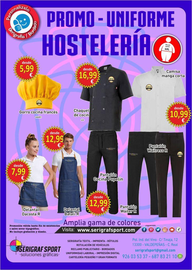 Promoción uniformes de hostelería