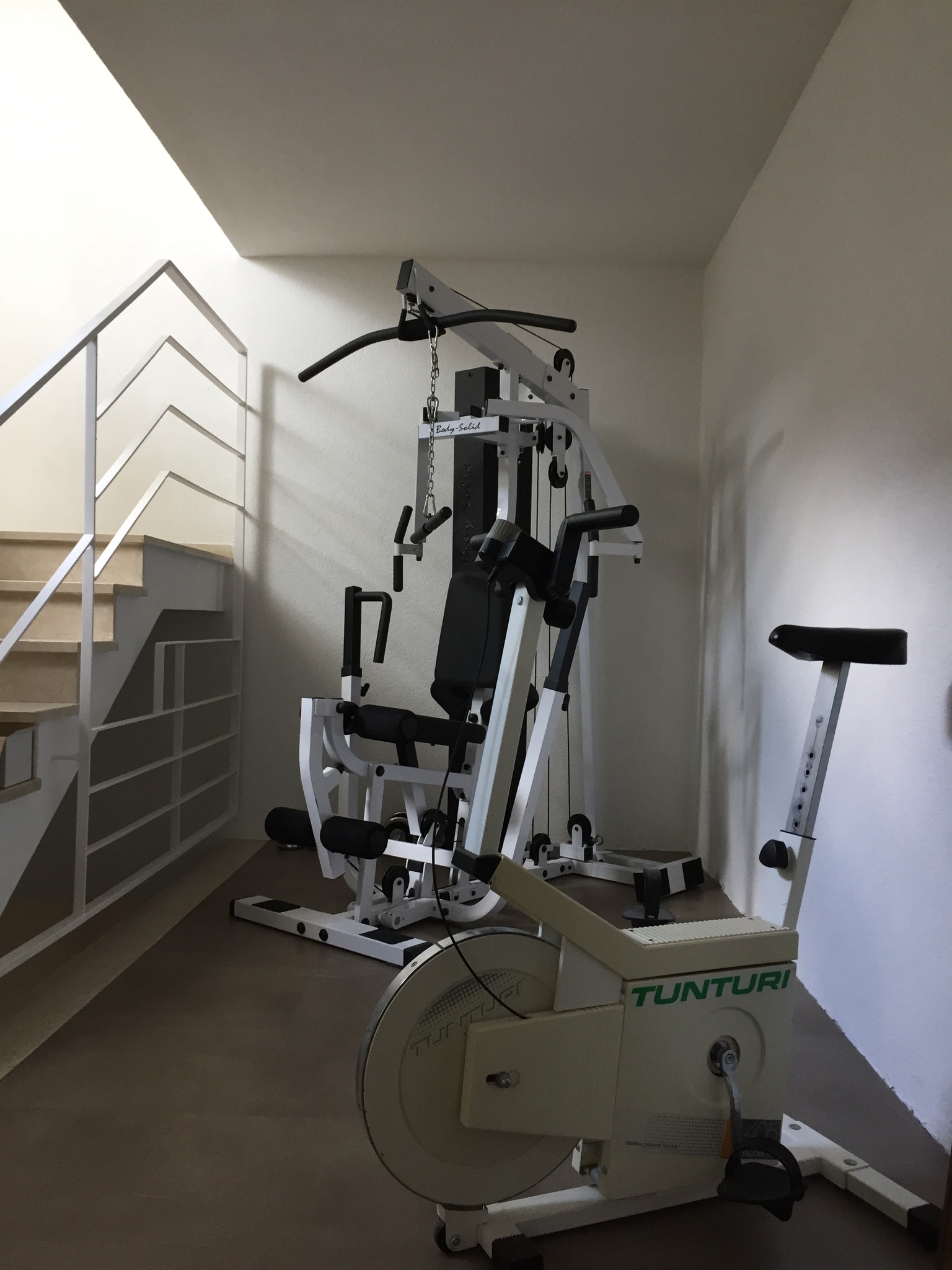The fitness equipment in the main house are at your disposal