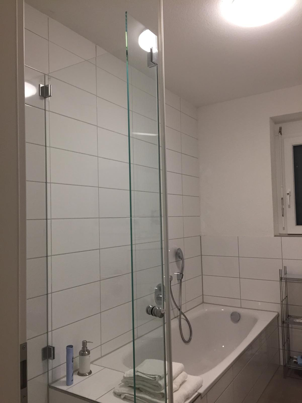 The bathroom with toilet, shower