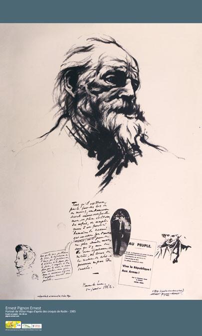 Ernest Pignon Ernest - Portrait de Victor Hugo