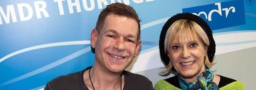 Sänger Peter Plate mit Moderatorin Kathrin Schirmer
