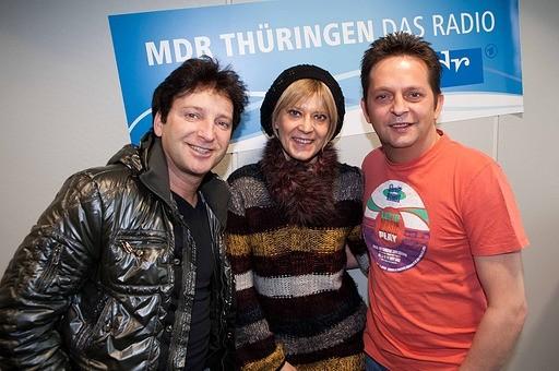 """Fantasy - das sind Matin Marcell und Freddy März. Ihr neues Album """"Endstation Sehsucht"""" ist auf dem Markt - MDR THÜRINGEN Moderatorin Kathrin Schirmer hat sie darüber ausgefragt."""