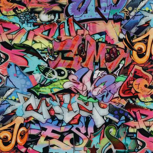 BIO-BW French-Terry-Sweat Graffiti