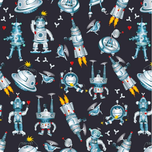 BIO-BW French-Terry-Sweat Roboter