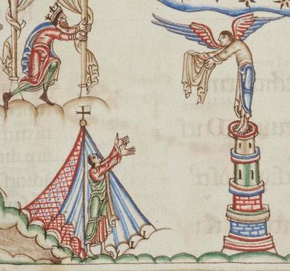 Psautier d'Eadwine - R.17.1 - f.105r - Angleterre - 1155-1160