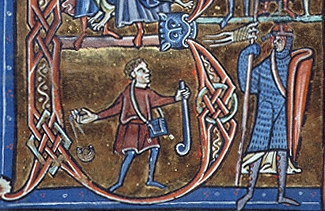 1200 ; Morgan Library ; MS M0791 f170r ; David et Goliath