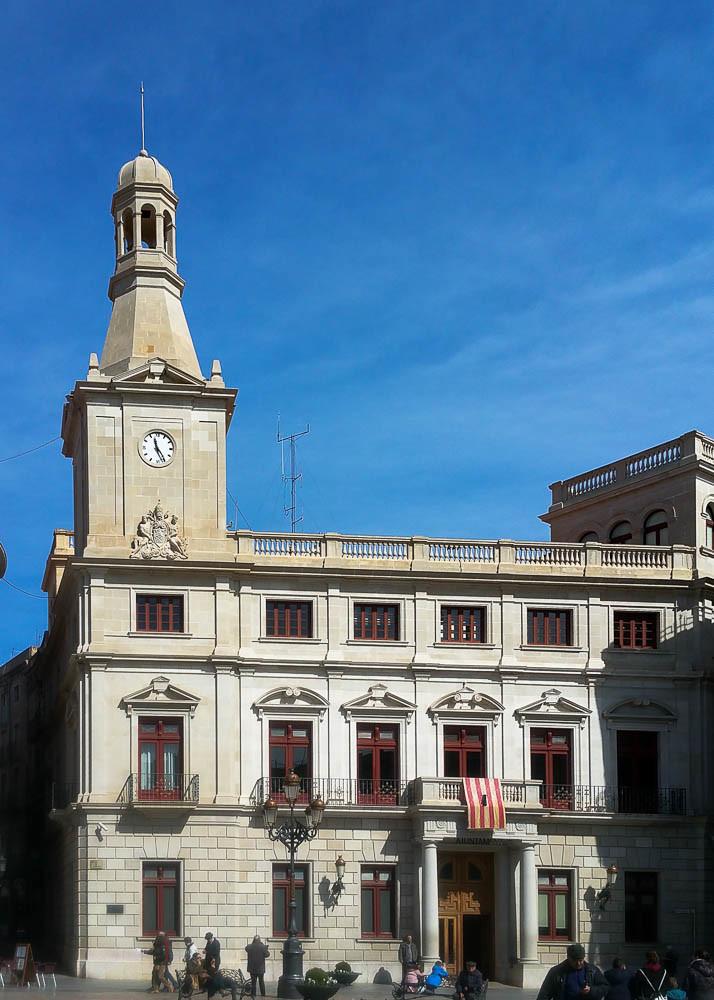 Das Rathaus von Reus.