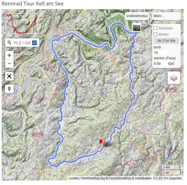 Hochwald-Mosel RoadRide Quelle: gpsies