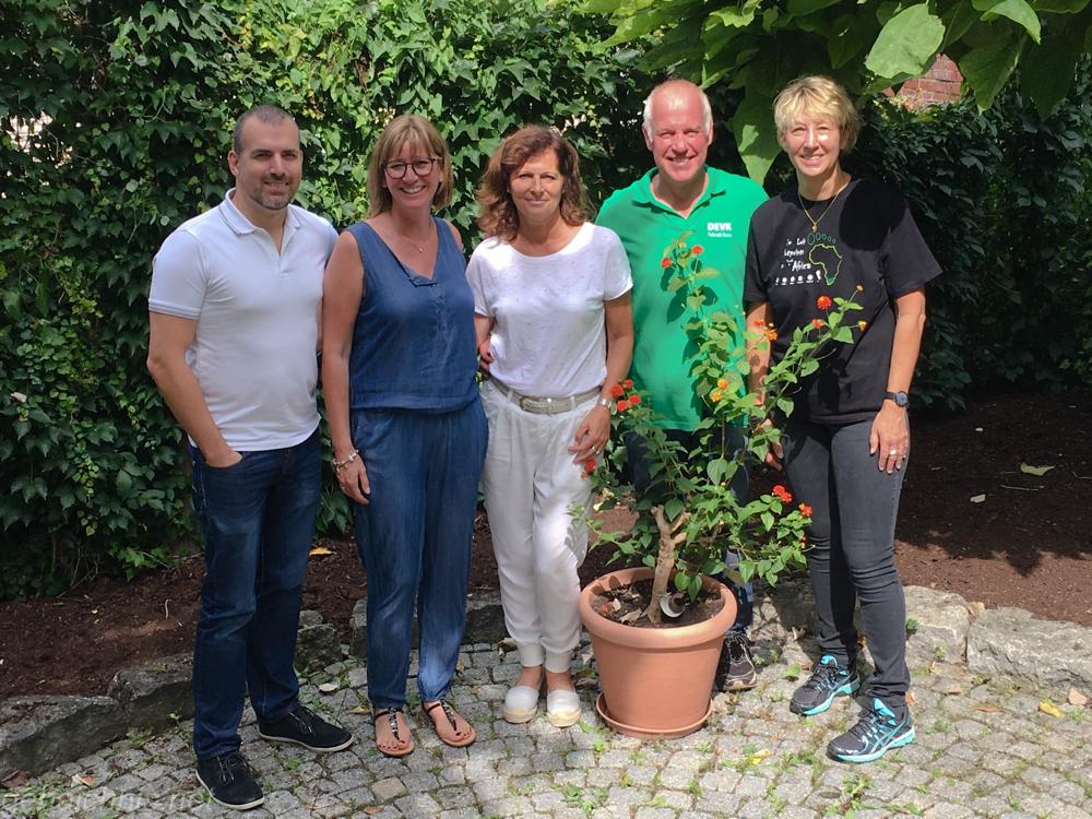 Danke Kai, Andrea, Heidi, Oswald (von links nach rechts) für Eure Unterstützung, die vielen Informationen und Eure Zeit!
