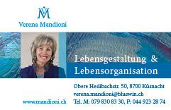 Visitenkarte V. Mandioni
