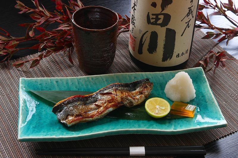 秋刀魚酒盗焼き