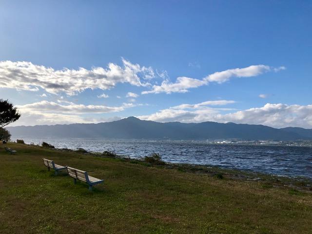 琵琶湖東岸から(琵琶湖を望む)