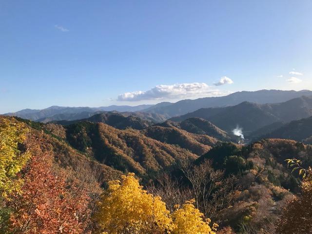 山並みの一番奥が比良山