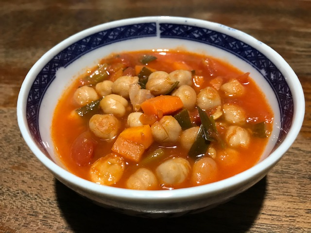 昨日の残り物のスープ