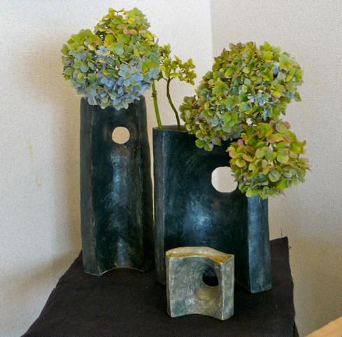 花器「森の夜」宗夫作