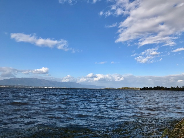 琵琶湖東岸から