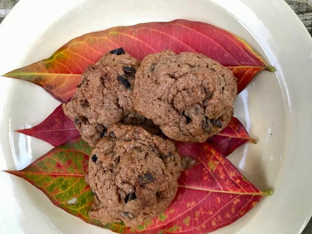 サルスベリの葉とココアクッキー