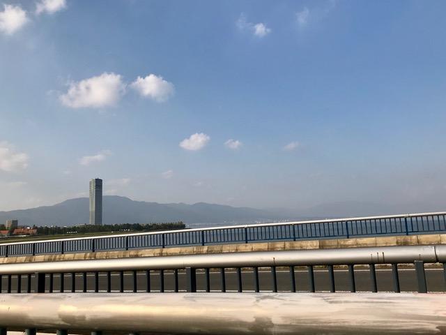 琵琶湖 近江大橋畔